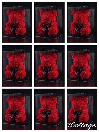 Urs grena din trandafiri de sapun artificiali decorativi 40 cm 170 lei