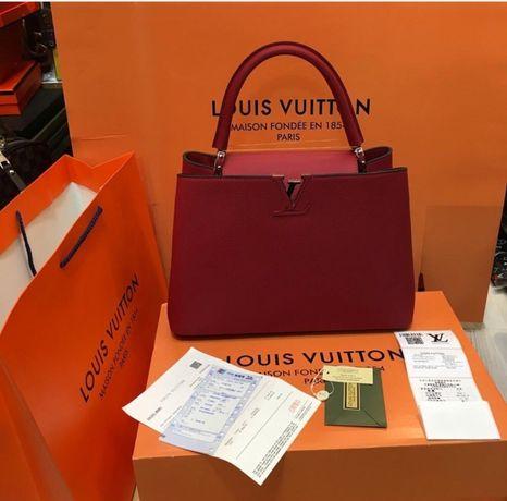 Geanta louis Vuitton/certificat autencitate/bon fiscal/piele naturală