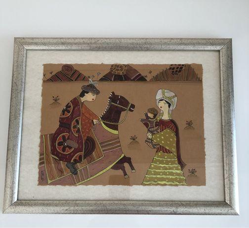 Картина «Встреча» Известные Художники сестры Кусаиновы ГаБо (GaBo)