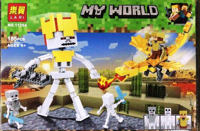 Конструктор Lari Minecraft Золотой дракон №11264 в Алматы