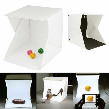 Фото кутия, фото палатка, палатка за снимки с LED светлина