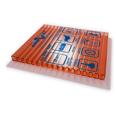 Сотовый поликарбонат (цветной) Woggel 16 мм, размер 2,1х12 м