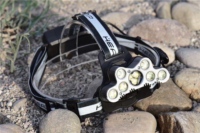 Kit Lanterna Frontala Profesionala 7xLED CREE-USA-USB-20000 LUMENI