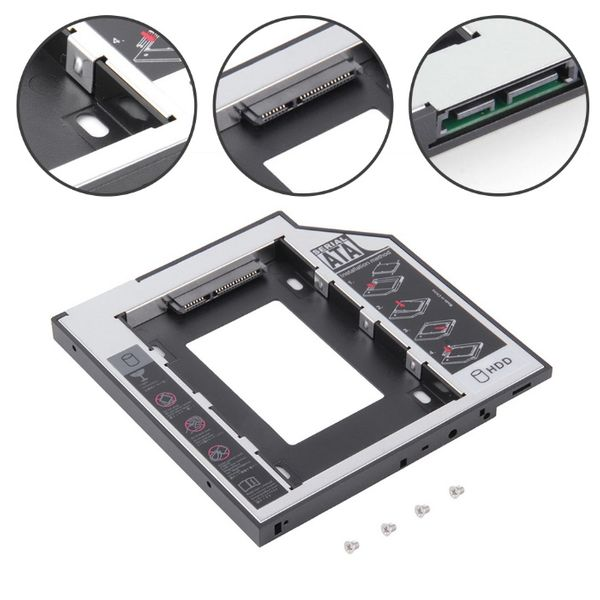 Адаптер за Втори Диск HDD/SSD за Лаптоп 9.5mm 12.7mm Кеди SATA ODD-HDD гр. Симитли - image 1