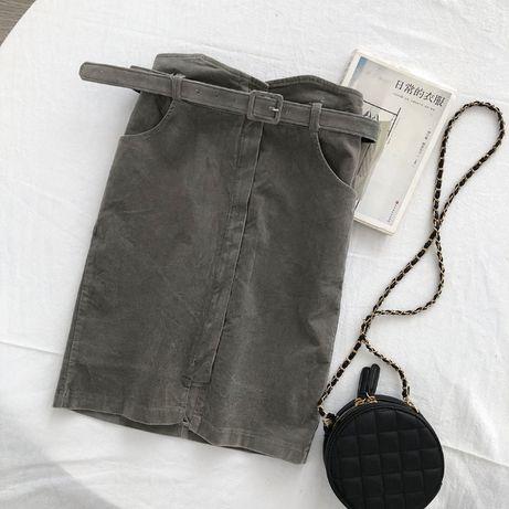 Новая женская вельветовая юбка