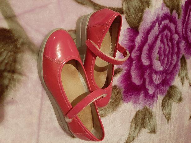 Pantofi roz fucsia piele naturala cu talpa ortopedica marime 36