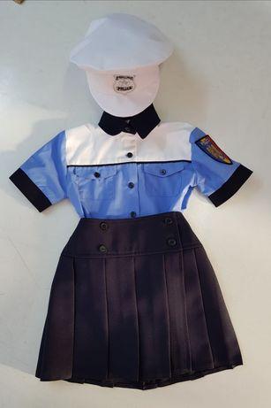 Costum polițist fete - nou , marimi 0-8 ani