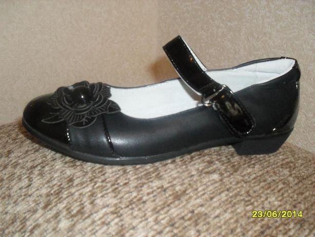 РАСПРОДАЖА Кожаные нов туфли для школы для девочек от 32до38