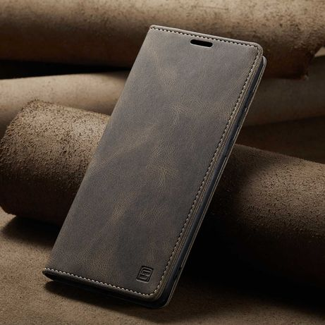Husa Samsung A72, piele, textura moale, portofel, stand, CaseMe Retro