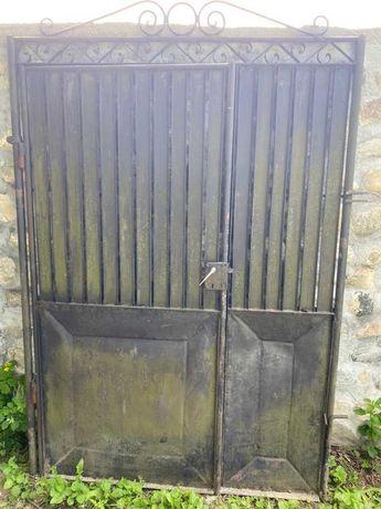 Porti metalice duble cu portita, pt curte sau gradina