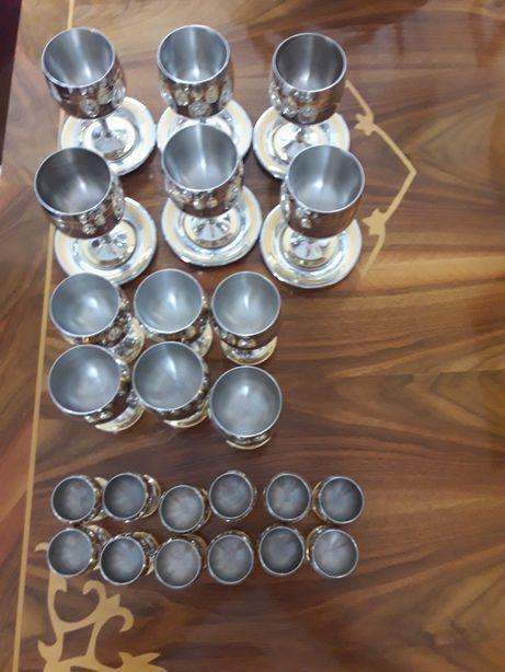 Set complet pahare Zepter- Prince (crom - nichel cu aur de 24k)