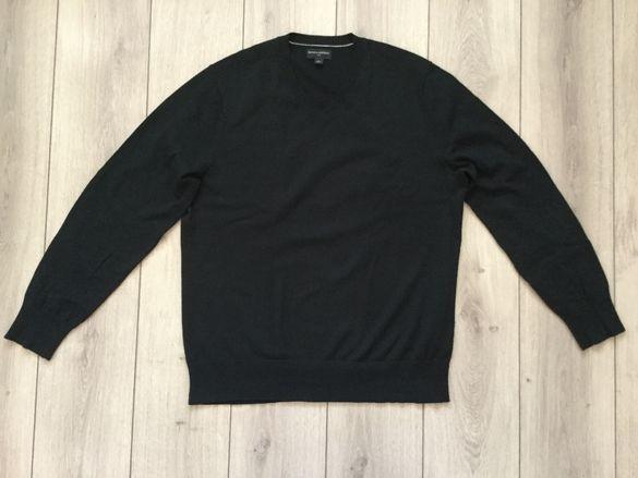 НОВ оригинален черен памучен пуловер BANANA REPUBLIC размер L ОТ САЩ