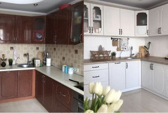 Реставрация фасада, мебели, кухня, шкафы