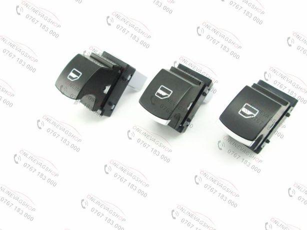 Set 3 butoane geamuri electrice crom Volkswagen Passat, Golf 5, Golf 6