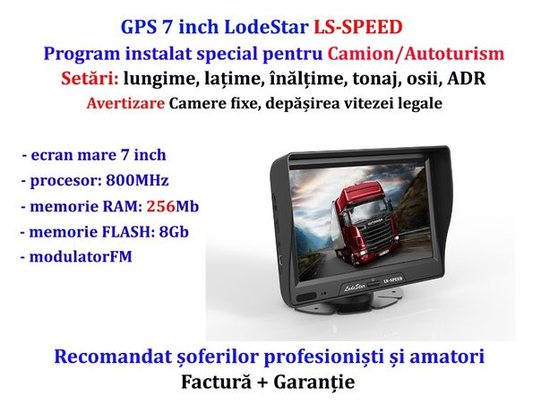 GPS 7 inch program iGO Primo harti Toata Europa pentru Camion/TIR/TAXI