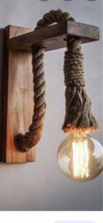 Ръчно изработен дървен аплик за стена