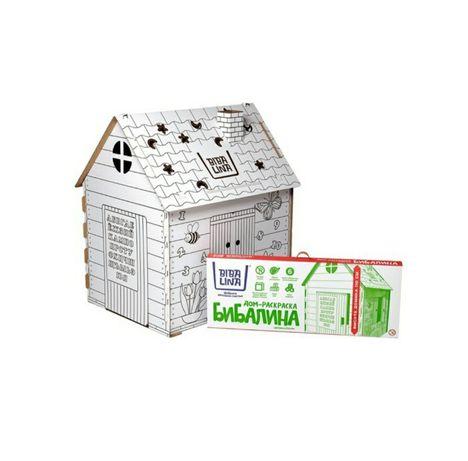 Домик из картона- дом раскраска