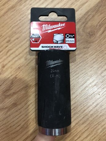 MILWAUKEE 2857 tubulara 24 mm de 1/2 cr-molibden, NOUA