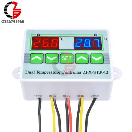 12V-220V Интелигентен двоен цифров температурен контролер