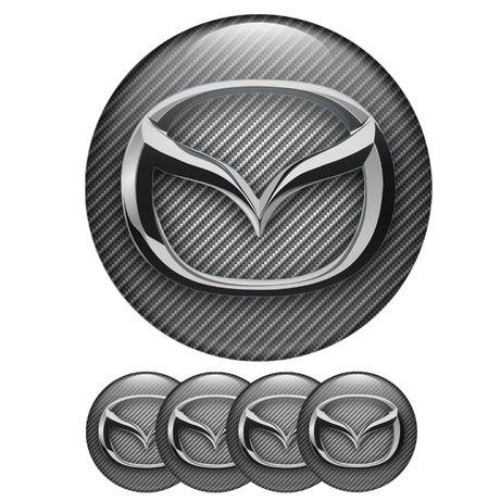 Силиконови стикери за капачки на джанти Мазда/Mazda размери 40мм до 90
