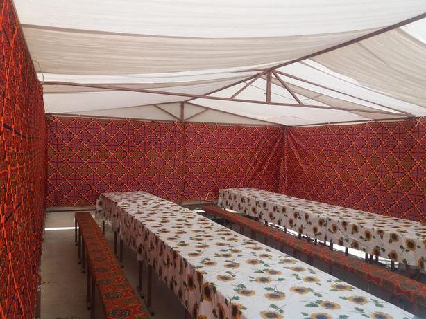 палатка (40/50/60/80/100 адамдык) казан ошак, ыдыс аяк (посуда) кудалы