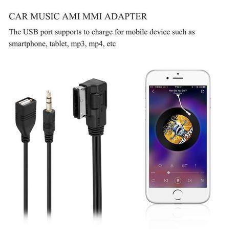 Cablu mmi ami audi interfata adaptor mdi AMI MMI USB, AUX bluetooth
