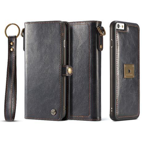Husa iPhone 6 / 6s piele, multifunctionala, multiple buzunare, CaseMe