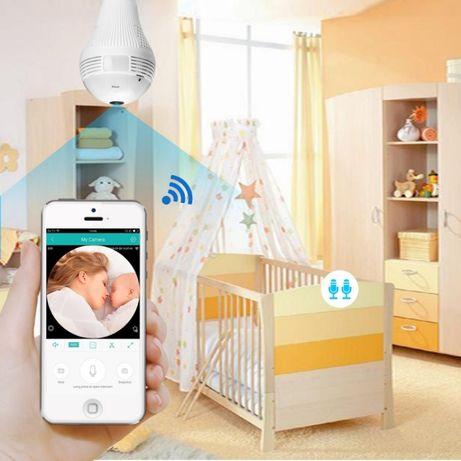 БЕБЕФОН крушка скрита безжична WiFi камера за видеонаблюдение на дете