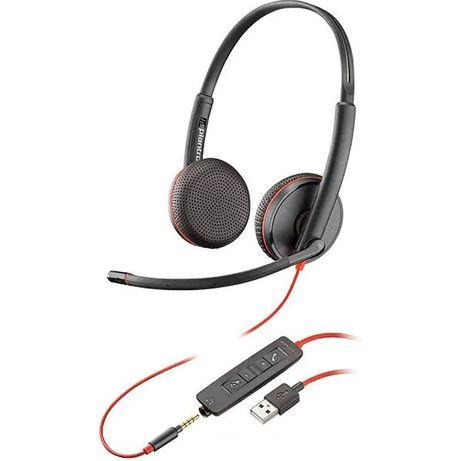 Casti Plantronics Blackwire C3225 USB-A Jack 3.5mm Binaural noi Nou