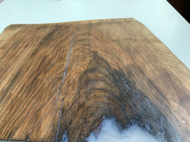 Tocator lemn masiv NUC si rasina epoxidica