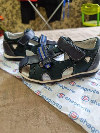 Детские ортопедические полностью кожанные сандали Shagovita 25размер