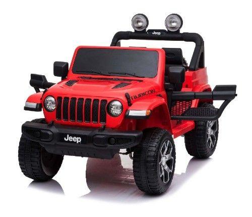 Mașinuță Electrică pentru Copii JEEP Wrangler, Roșu, Tractiune 4X4