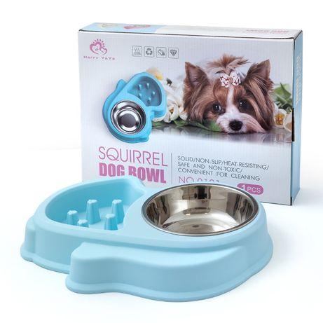 Хранилка за лакомо куче и купичка за вода