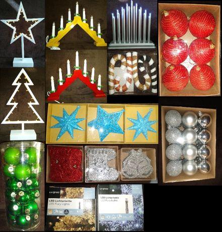 Коледна украса-Led лампички, фигурки, свещници и др.