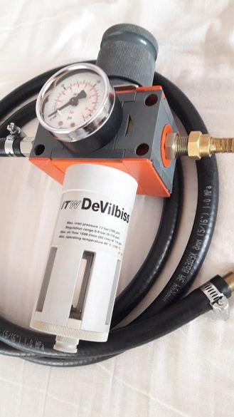 DeVilbiss регулатор за налягане с манометър
