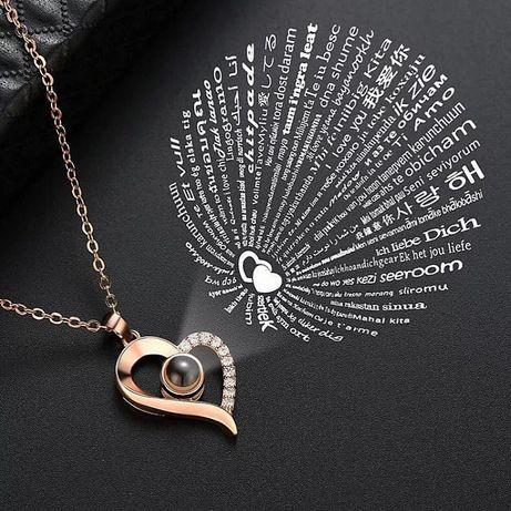 Кулон с проекцией «Я тебя люблю» на 100 языках! ЛУЧШИЙ ПОДАРОК!