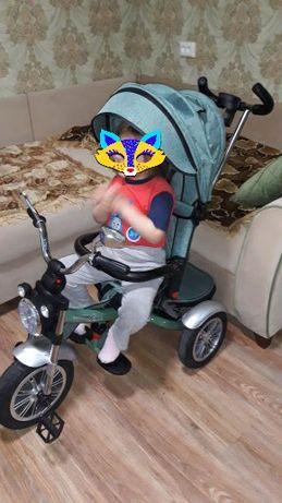 Продам детский трёхколёсный велосипед-коляску Барс