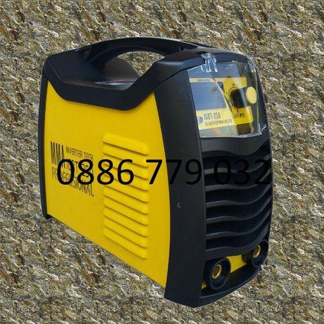 250А МАХ 3.5 КГ Електрожен Инверторeн с дисплей IGBT MМА - Ръкавици