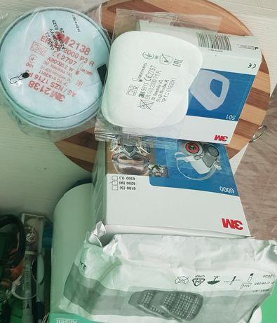Masca 3M + filtre prefiltre capace ,Bonus filtre rotunde 2138p3 carbon