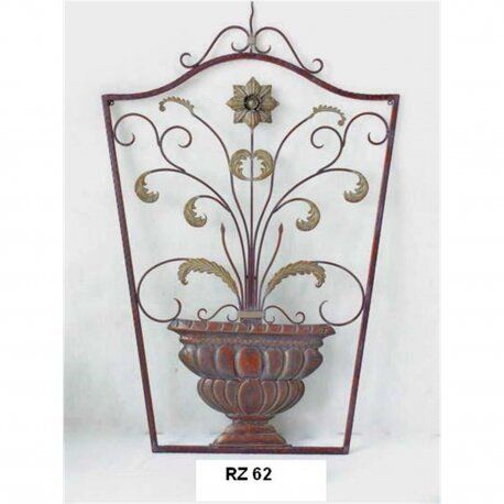 Decoratiune de perete din fier forjat antik brown RZ-62