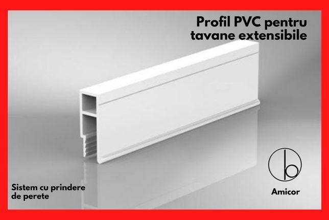 Profil PVC pentru tavane extensibile - fixare de perete