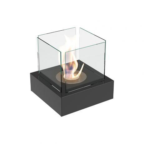 Semineu bioetanol mini prevazut cu geamuri laterale cu design deosebit