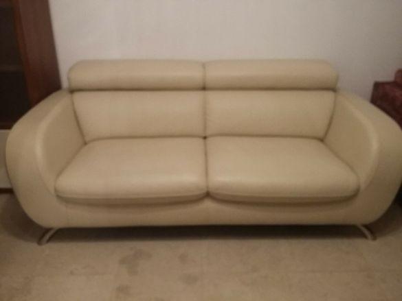 Луксозен диван естествена кожа