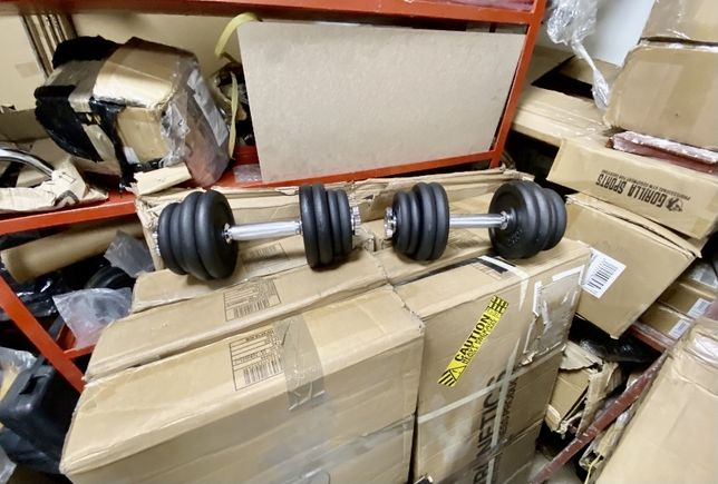 Gantere reglabile profesionale noi 23 kg+23 kg=46 kg noi otel crom