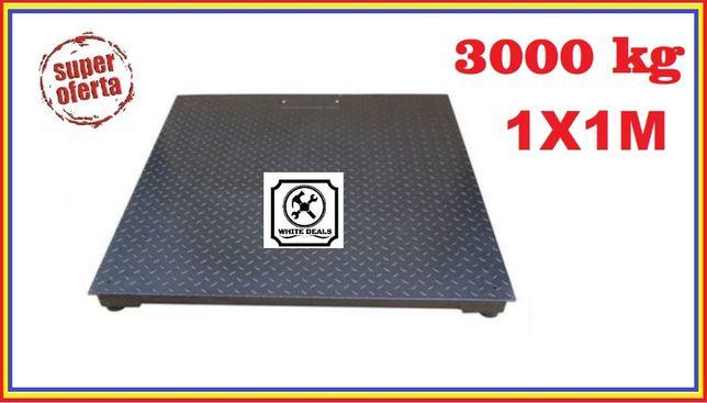 Cantar electronic 3 tone - platforma 1x1 m groasa striata, 4 celule