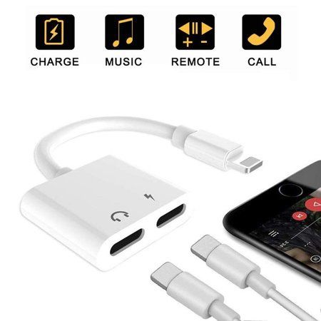 Iphone 5 6 7 8 Plus X XS XR XS MAX 11 PRO MAX Adaptor Dublu Casti Cast