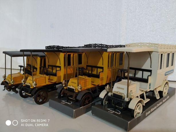 Machete auto metalice MAN Erster Bussing Omnibus-Baujahr 1904 sc 1:35