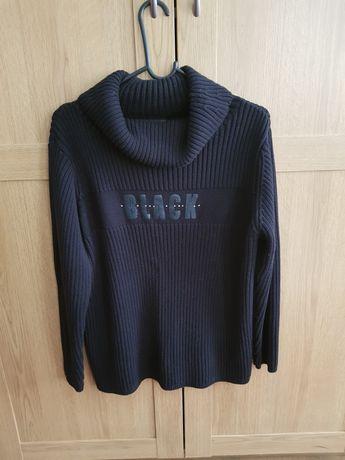 Pulover/bluză damă,Biaggini,negru,cu guler,marimea L/44