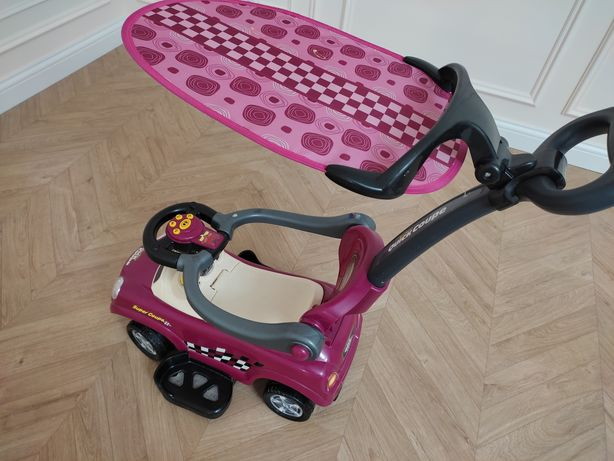 Машинка детская с ручкой для взрослого и козырьком