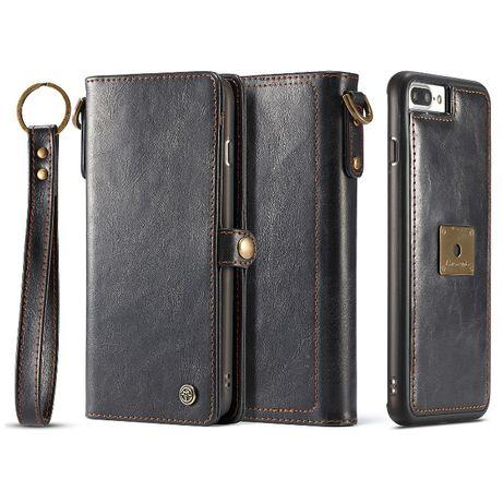 Husa iPhone 8 Plus, 7 Plus, piele portofel multifunctionala,CaseMe